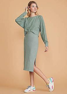 Lou & Grey Cozy Jersey Midi Skirt