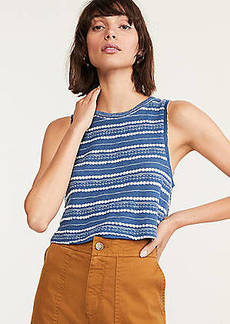 Lou & Grey Crochet Striped Crop Top
