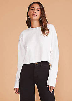 Lou & Grey Cropped Cozy Jersey Tee