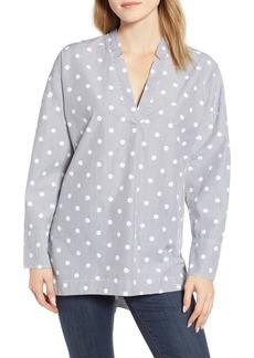 Lou & Grey Dot Stripe Pop-On Tunic