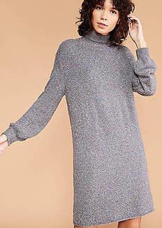 LOFT Lou & Grey Flecked Sweater Dress