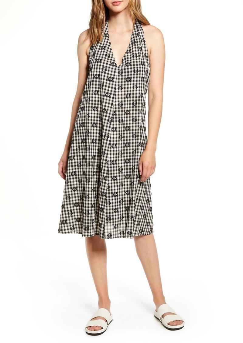 Lou & Grey Floral Clip Plaid Dress
