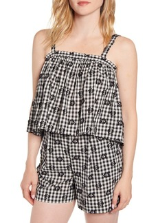 Lou & Grey Floral Gingham Camisole