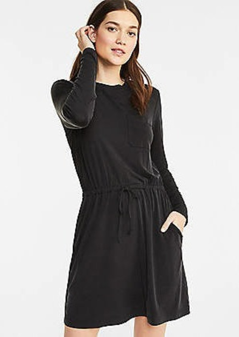 Lou & Grey Fluid Cupro Pocket Dress