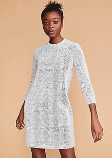 Lou & Grey Fuzzy Herringbone Sweatshirt Dress