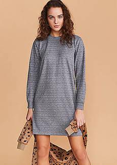 Lou & Grey Herringbone Ponte Sweatshirt Dress
