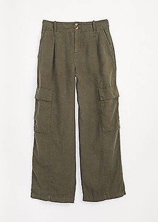 Lou & Grey High Rise Linen Cargo Pants