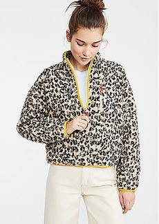 Lou & Grey Leopard Print Cozy Up Zip Jacket