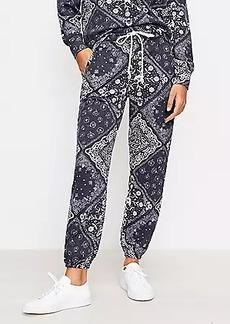 Lou & Grey Bandana Terry Sweatpants
