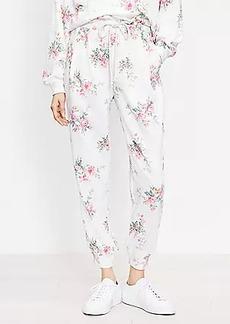 Lou & Grey Bouquet Ruffle Terry Sweatpants