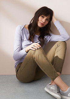 LOFT Lou & Grey Brushed Sateen Cargo Pants