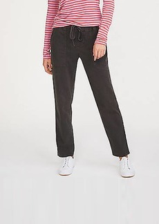 LOFT Lou & Grey Brushed Sateen Utility Pants
