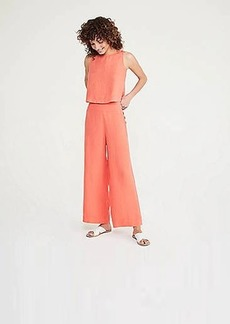 Lou & Grey Button High Waist Wide Leg Linen Pants