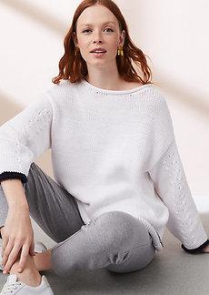 LOFT Lou & Grey Cable Service Sweater