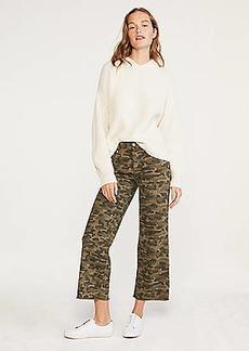 Lou & Grey Camo Wide Leg Crop Jeans