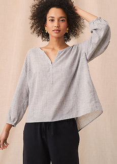 Lou & Grey Crosshatch Blouse