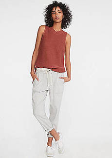 Lou & Grey Crosshatch Softstretch Linen Rope Tie Pants