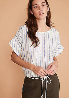 Lou & Grey Dobby Striped Top