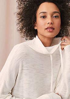 LOFT Lou & Grey Drawstring Neck Tunic Sweater