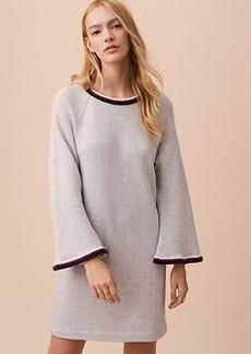 Lou & Grey Embroidered Bell Sleeve Sweatshirt Dress