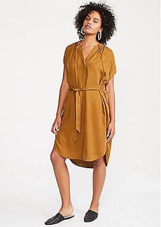 LOFT Lou & Grey Fluid Twill Pocket Shirtdress