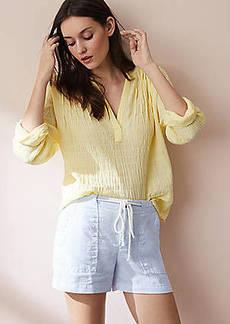 634e1993c36f6 Lou   Grey Garment Dye Roped Linen Shorts