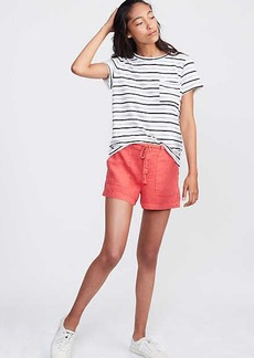 LOFT Lou & Grey Garment Dye Roped Linen Shorts