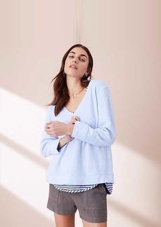 LOFT Lou & Grey Garment Dye V-Neck Sweatshirt