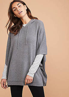 Lou & Grey Hooded Poncho Sweater