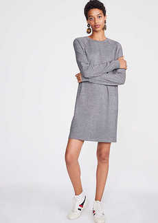 LOFT Lou & Grey Houndstooth Sweatshirt Dress