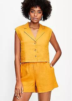Lou & Grey Linen Cap Sleeve Shirt