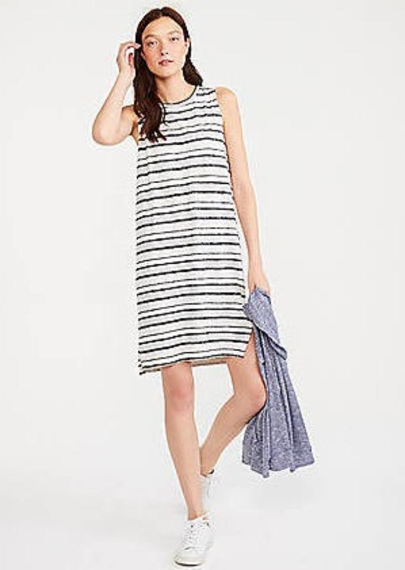 LOFT Lou & Grey Mixstripe Slub Jersey Dress
