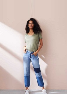Lou & Grey Patched Wide Leg Jeans