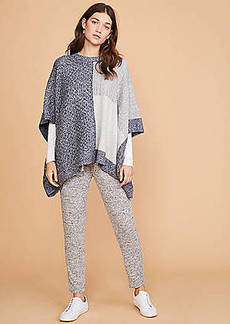 Lou & Grey Patchwork Poncho Sweater