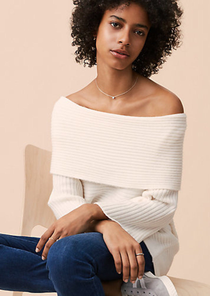 21663d64cdd LOFT Lou & Grey Ribbed Off The Shoulder Sweater | Sweaters