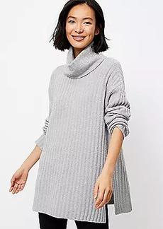 Lou & Grey Ribbed Turtleneck Tunic Sweater