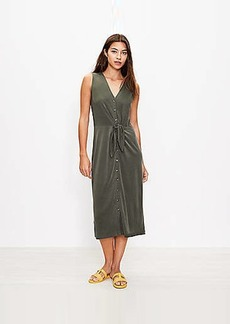 Lou & Grey Sandwashed Tie Front Midi Dress