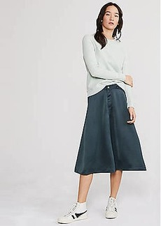 LOFT Lou & Grey Satin Midi Skirt