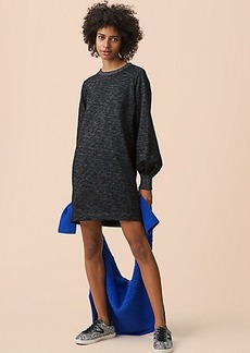 Lou & Grey Seamed Blouson Sweatshirt Dress