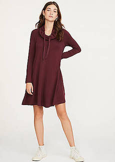LOFT Lou & Grey Signaturesoft Drawstring Cowl Dress