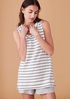 LOFT Lou & Grey Signaturesoft Striped Sleeveless Cowl Top