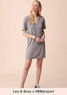 Lou & Grey Signaturesoft V-Neck Tee Dress