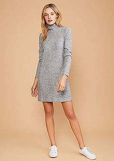 Lou & Grey Softrib Turtleneck Dress