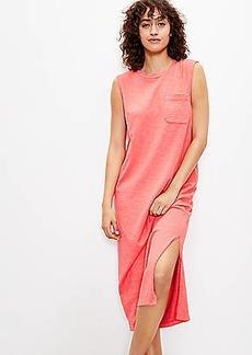Lou & Grey Softserve Slub Pocket Tank Midi Dress