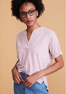 Lou & Grey Softserve Slub Split Neck Top