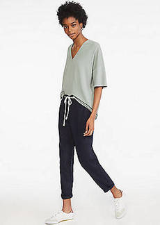 Lou & Grey Softstretch Linen Rope Tie Pants