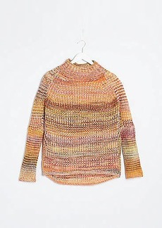 Lou & Grey Spacedye Ribbed Poncho Sweater