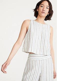 Lou & Grey Stripe Cropped Linen Tank