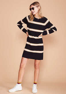 Lou & Grey Stripe Cuffed Sweater Dress