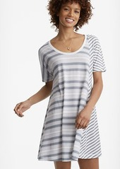 Lou & Grey Stripeblock Softserve Cotton Tee Dress